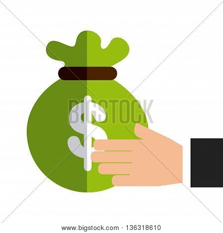 bag money protection isolated icon design, vector illustration  graphic