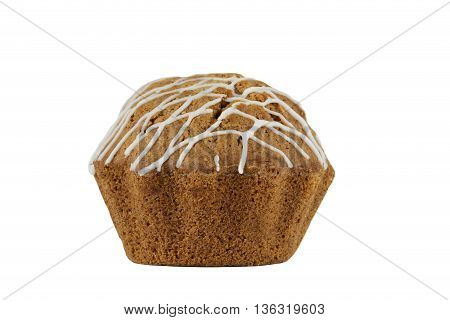 the sweet muffin on a white background