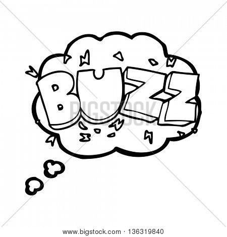 freehand drawn thought bubble cartoon buzz symbol