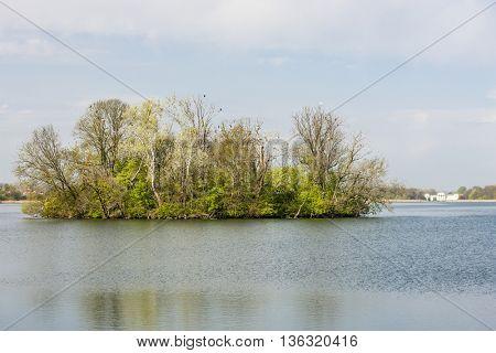 Hlohovecky pond, region Lednice-Valtice, Czech Republic
