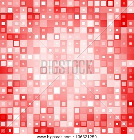 red Abstract background from different squares. Used for your modern design.