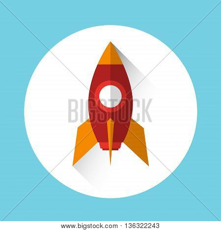 Rocket Icon Start Up Business Concept Flat Vector Illustration
