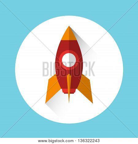 Rocket Icon Start Up Business Concept Flat Vector Illustration