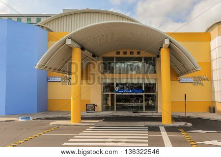 Entrance To The Albrook Mall In Panama City