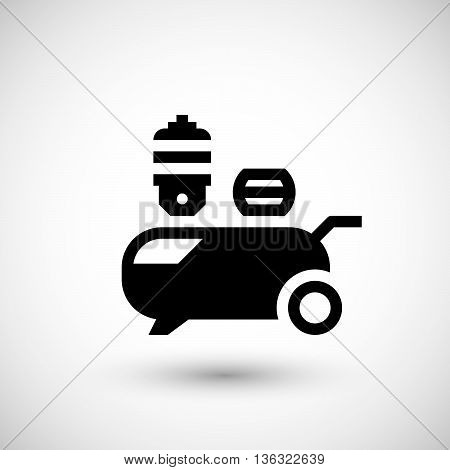 Air compressor icon isolated on grey. Vector illustration