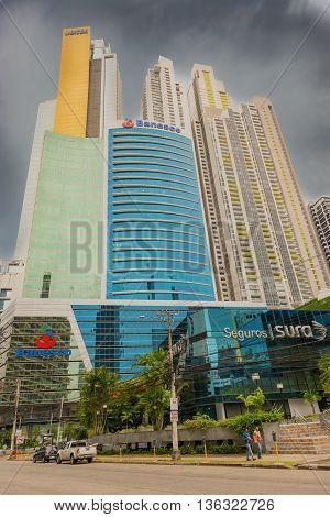 Skyscrapers In Panama City, Panama.