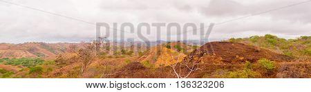 Panoramic Landscape In Azuero Peninsula In Panama.