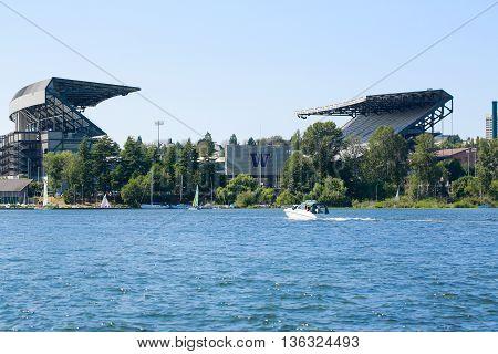 Seattle, Wa - March 23, 2011: University Of Washington - Husky Stadium