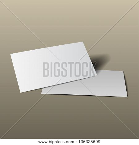 Business Card Mockup Gold4