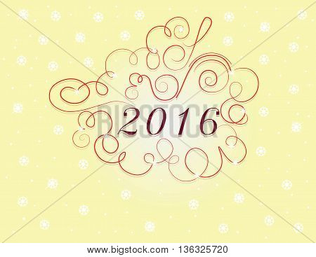New Year Card 2016 . Vector illustration