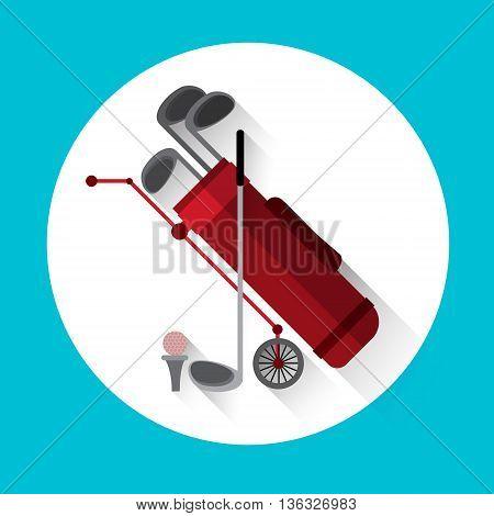 Golf Game Equipment Sport Icon Flat Vector Illustration