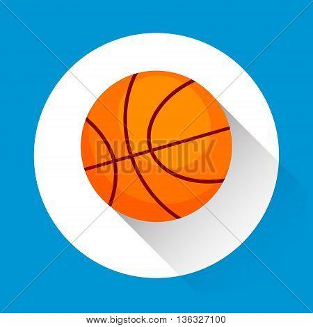 Basketball Ball Game Equipment Sport Icon Flat Vector Illustration