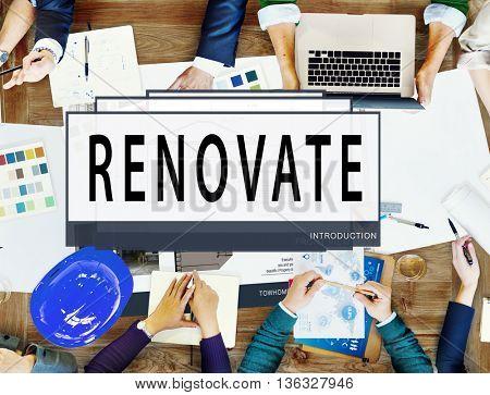 Plan Renovate Architecture Blueprint Drawing Concept