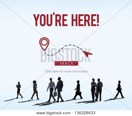 You Are Here Navigate Position Location Planning Concept