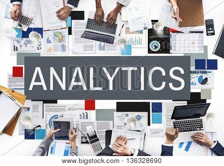 Business Analytics Statistics Analyze Concept