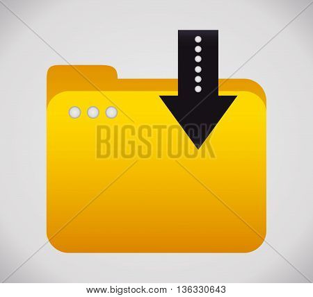 File concept represented by yellow folder icon. Colorfull and flat illustration