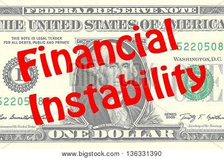 Financial Instability - Business Concept