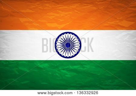 National Flag Of India With Correct Proportions And Color Scheme Vector