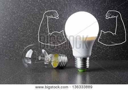 Led Bulb And Incandescent Lamp