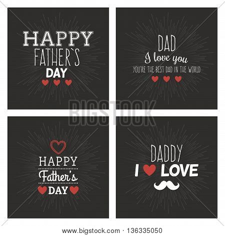 abstrac father day labels on a special background