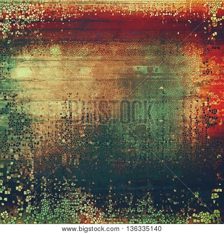 Creative vintage grunge texture or ragged old background for art projects. With different color patterns: yellow (beige); brown; green; red (orange); black