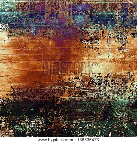 Abstract grunge background or aged texture. Old school backdrop with vintage feeling and different color patterns: yellow (beige); brown; blue; red (orange); purple (violet); black