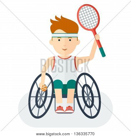 Handicapped Athlete Tennis Player