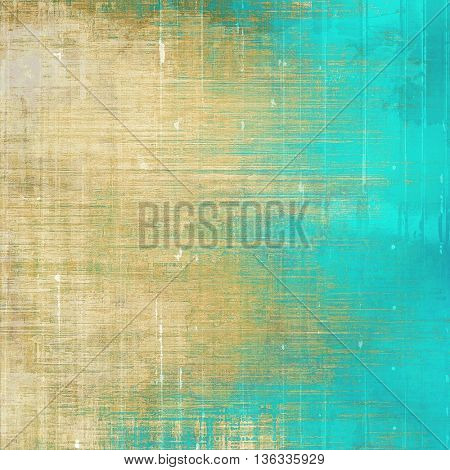 Creative vintage grunge texture or ragged old background for art projects. With different color patterns: yellow (beige); brown; gray; green; blue; cyan