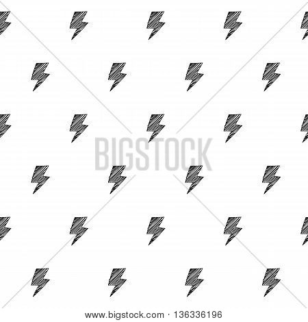 Lightnings electric sign energy scribble sketch pattern background. Hand drawn vector illustration.
