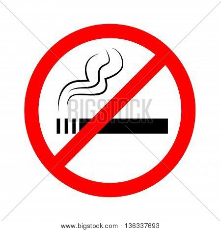No smoking sign on white background, vector illustration