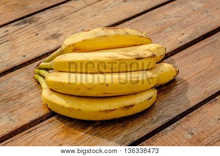 banana on the background wood and table