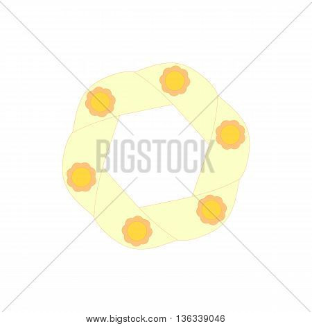 Light yellow icon in cartoon style on a white background