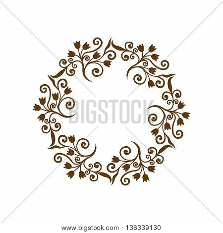 Circle pattern. Decorative lace ornament. Vector illustration.