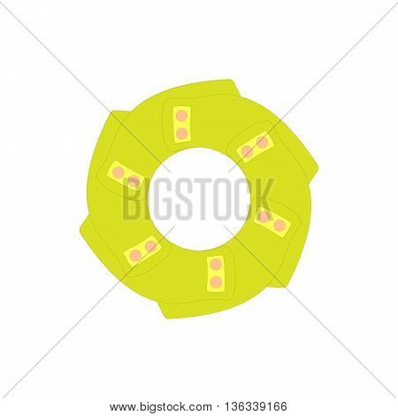 Abstract shape icon in cartoon style on a white background