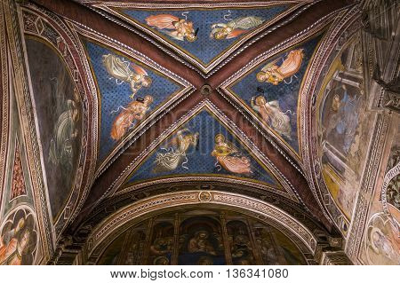 Interiors And Details Of Palazzo Pubblico, Siena, Italy