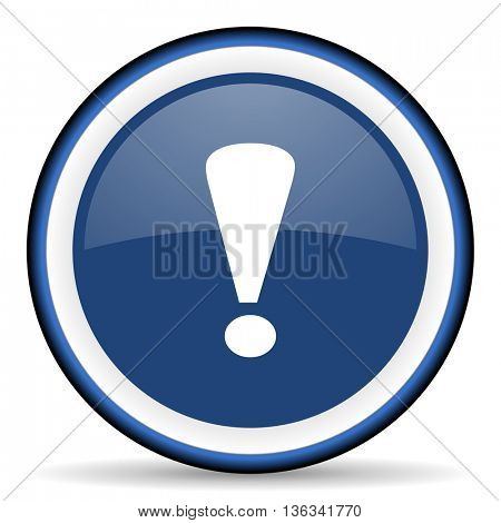 exclamation sign round glossy icon, modern design web element