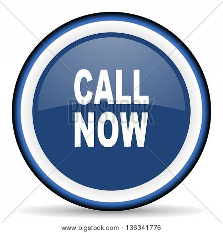 call now round glossy icon, modern design web element
