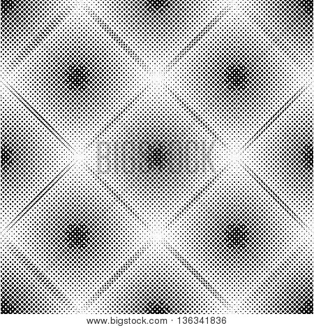 Abstract geometric pattern with rhombuses. Repeating seamless vector background. Gray and white ornament. EPS