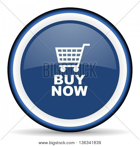 buy now round glossy icon, modern design web element