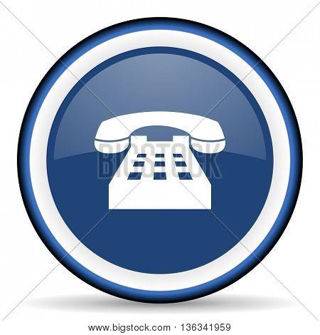 phone round glossy icon, modern design web element