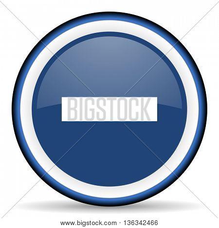 minus round glossy icon, modern design web element