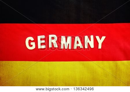 German flag, abstract background with text space, patriotic wallpaper for football fans