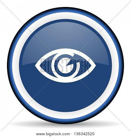 eye round glossy icon, modern design web element