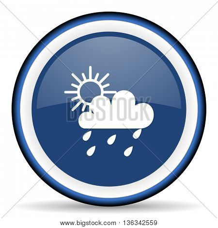 rain round glossy icon, modern design web element