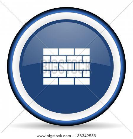 firewall round glossy icon, modern design web element