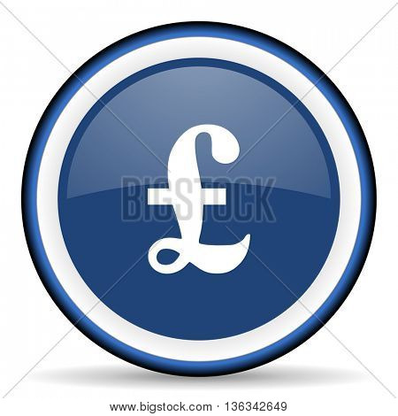 pound round glossy icon, modern design web element