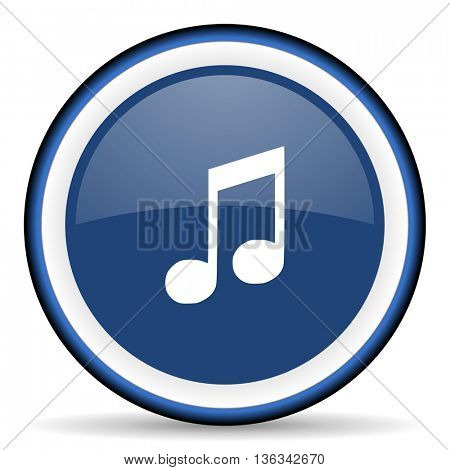 music round glossy icon, modern design web element