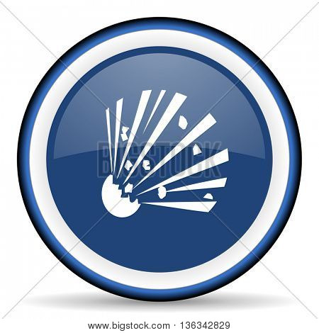 bomb round glossy icon, modern design web element