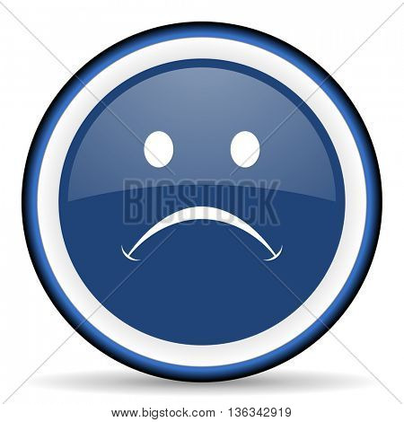 cry round glossy icon, modern design web element