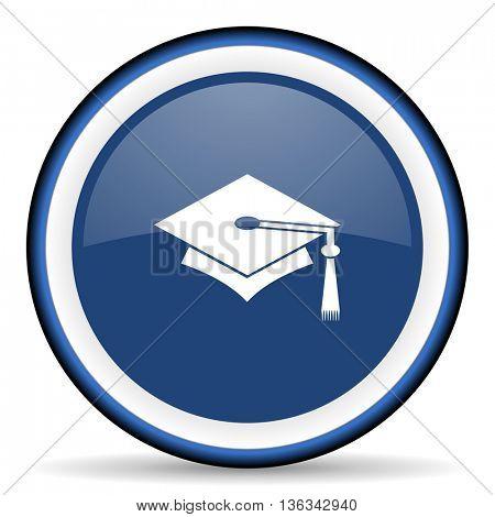 education round glossy icon, modern design web element